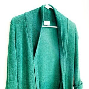 pins + needles emerald cardigan w/large pockets